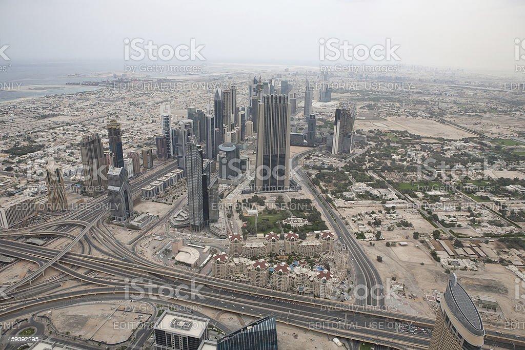 View of Dubai Construction royalty-free stock photo
