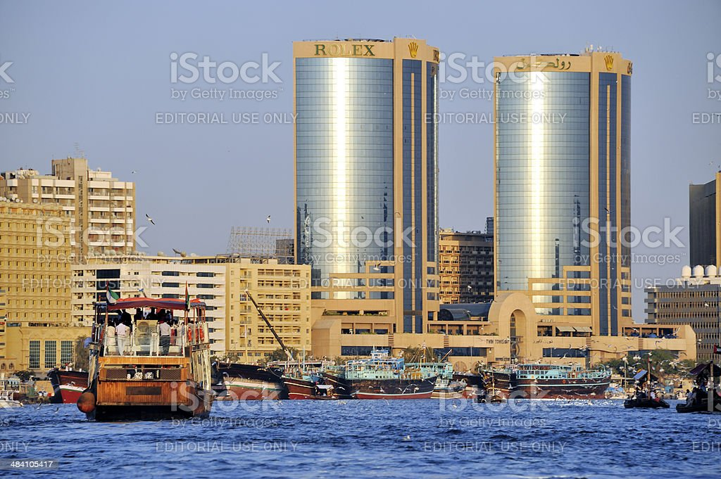 View of Dubai creek stock photo
