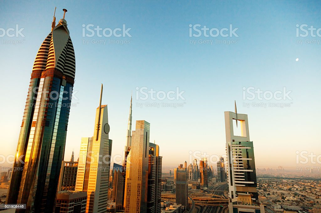 View of Dubai skyline stock photo