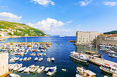 View of Dubrovnik's waterfront docks