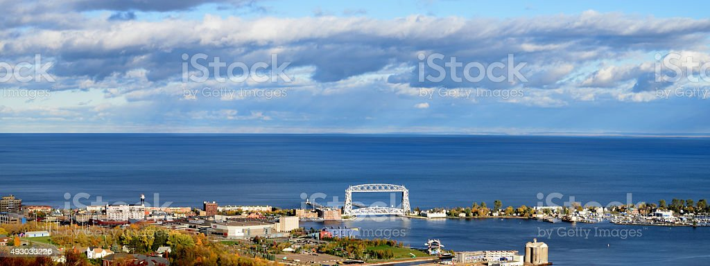 View of Duluth and Park Point stock photo