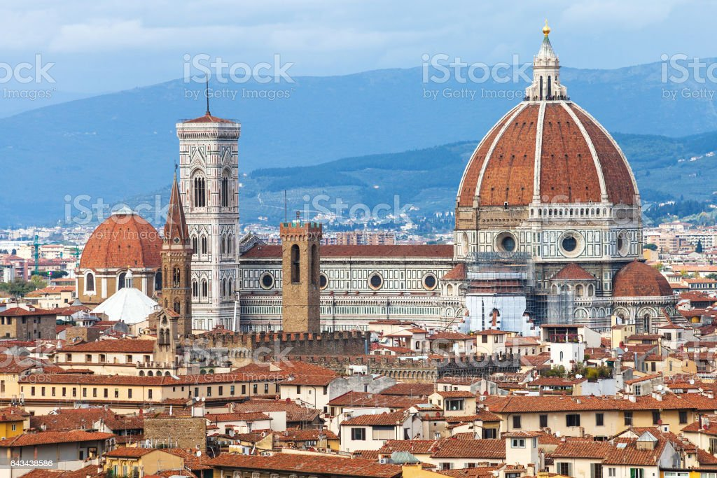 view of Duomo in Florence city stock photo