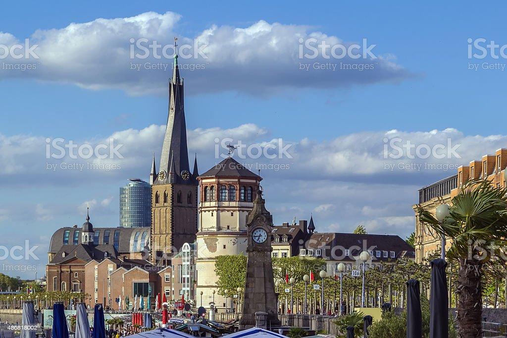 view of Dusseldorf historic center, Germany stock photo