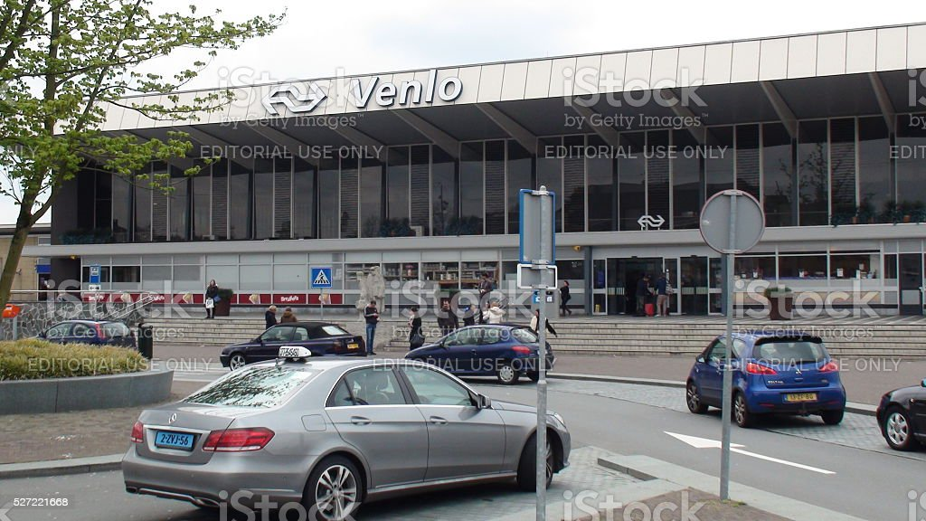 View Of Dutch Railways Station Situated In Venlo Limburg.Netherlands stock photo