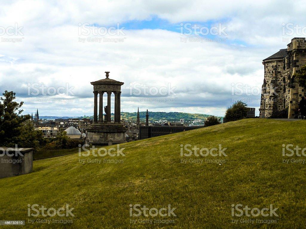 View of Edinburgh from Calton Hill stock photo