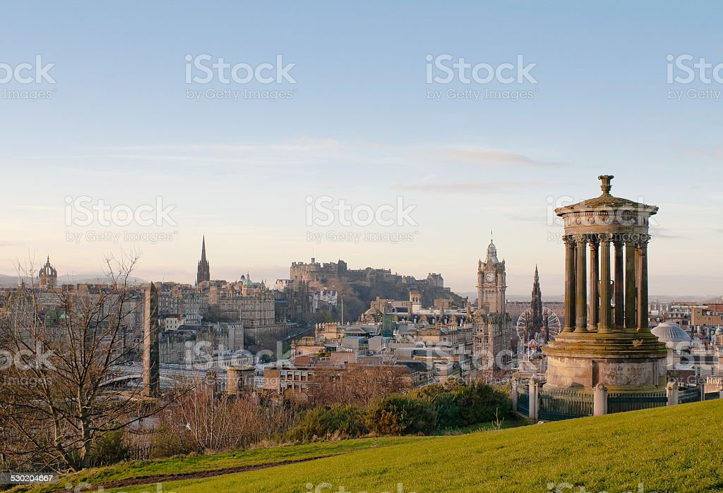 View of Edinburgh from Calton Hill stock photo
