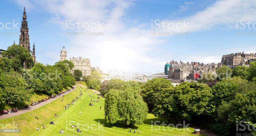 View of Edinburgh Panorama stock photo