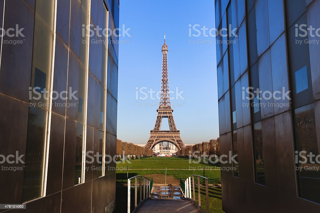 view of Eiffel Tower stock photo
