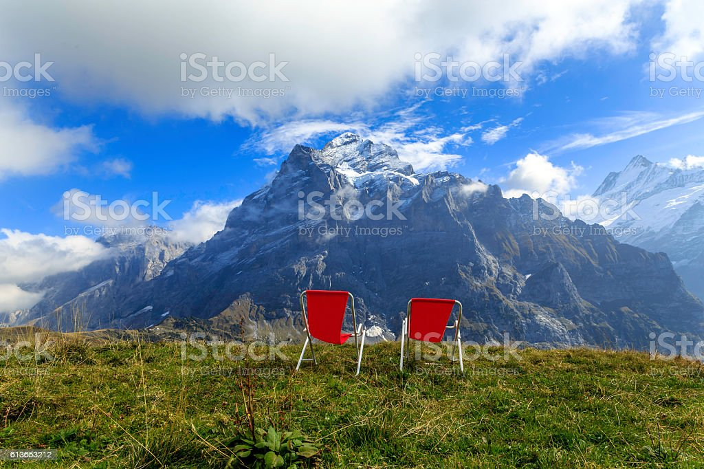 View of Eiger,Swiss stock photo