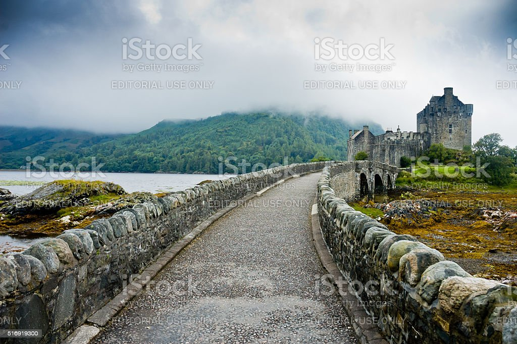 View of Eilean Donan Castle in Scotland stock photo