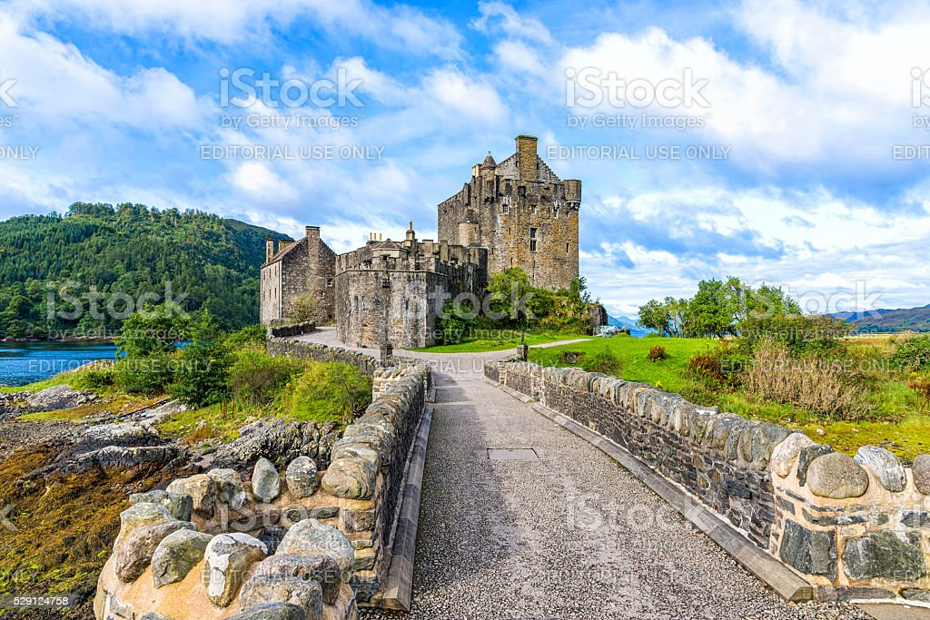 View of Eilean Donan Castle in Scotland, UK stock photo
