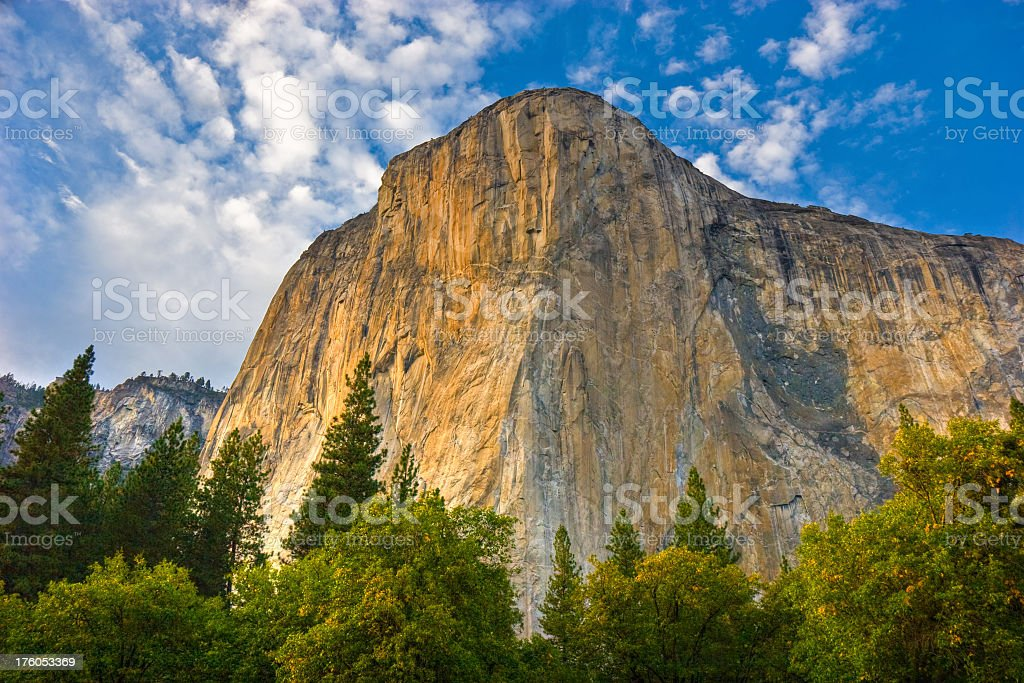 View of El Capitan as seen from below royalty-free stock photo