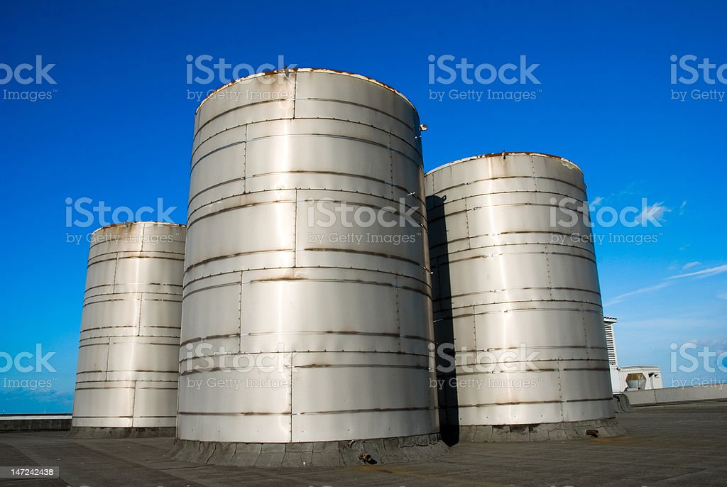 view of emergency steamvalves royalty-free stock photo