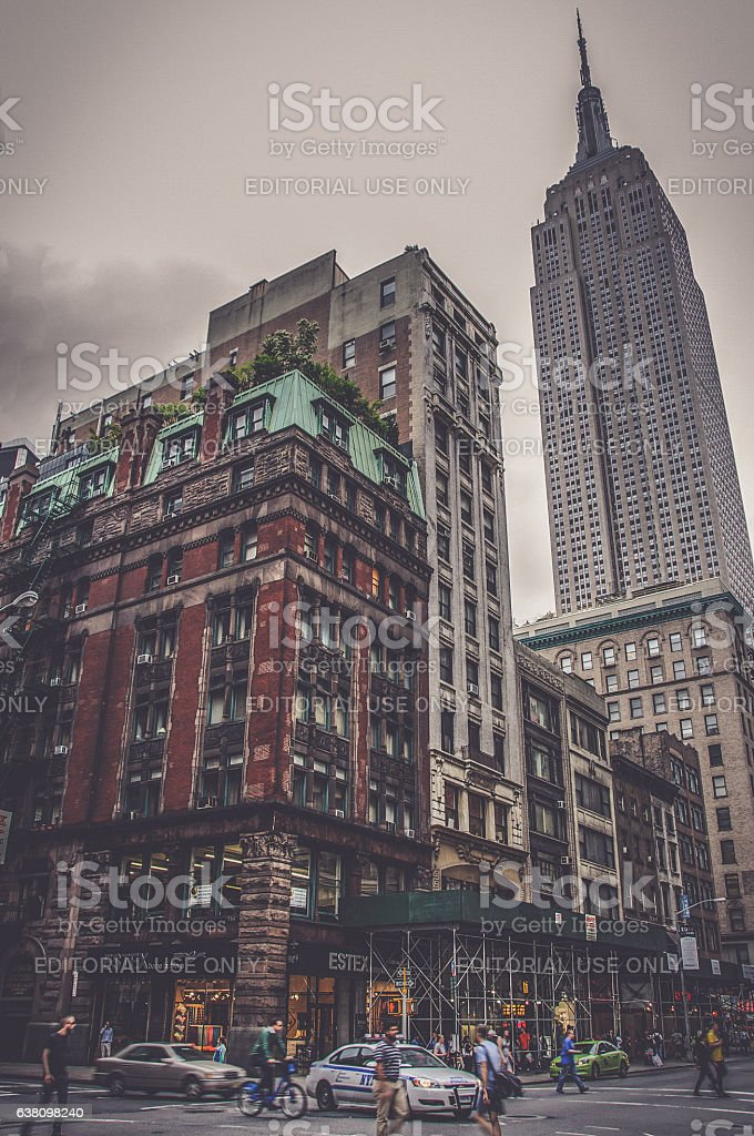View of Empire State Building in New York City stock photo