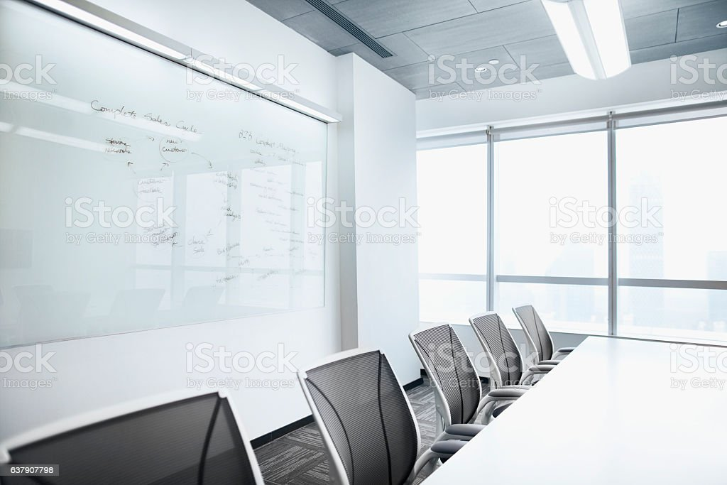 View of empty conference room