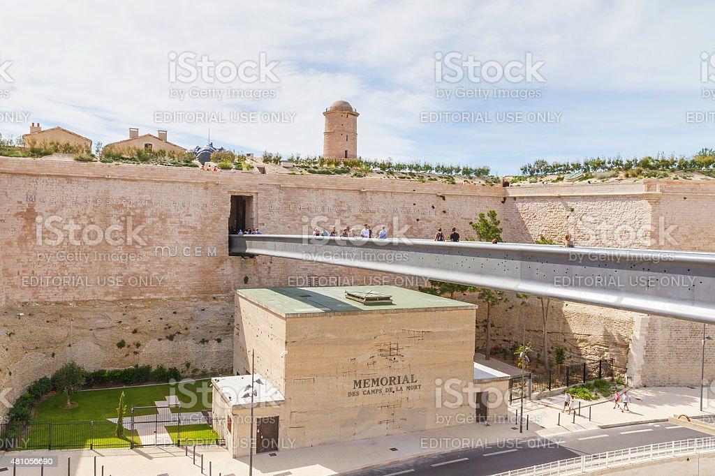 View of entrance of Musee des civilisations de l'europe stock photo