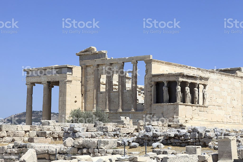 View of Erechtheum temple royalty-free stock photo