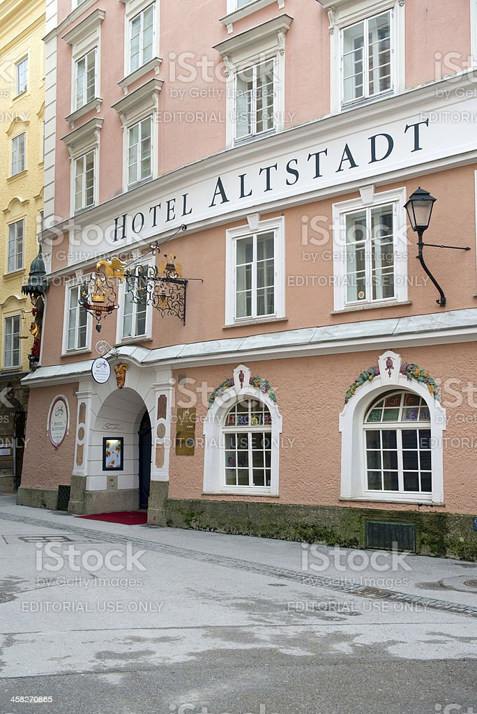 View of famous Hotel Alstatd royalty-free stock photo