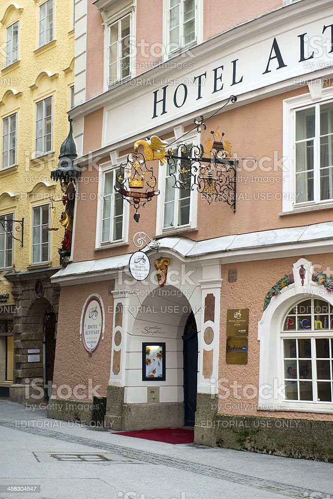 View of famous Hotel Alstatd stock photo