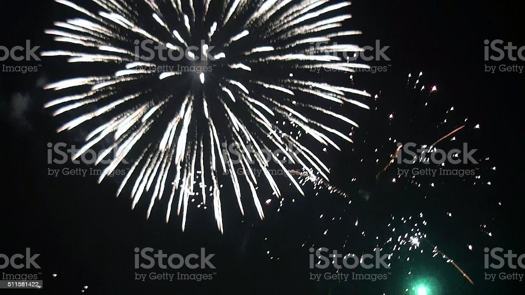 View Of Fireworks For Holidays And Celebrations stock photo