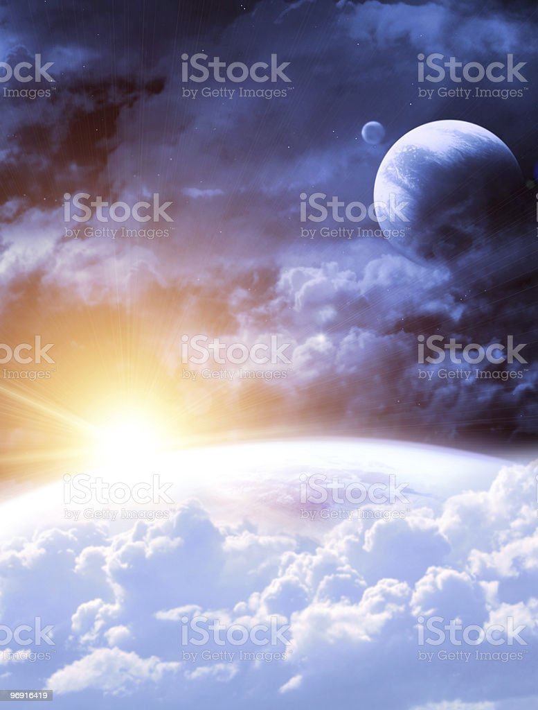 View of flare from outer space royalty-free stock photo