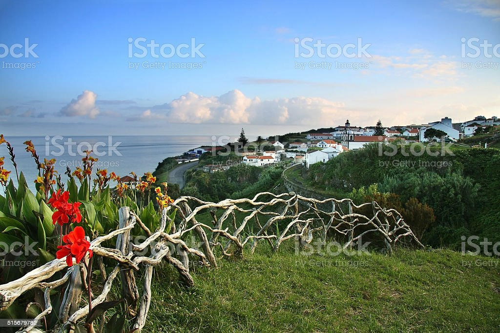 View of Flores island stock photo