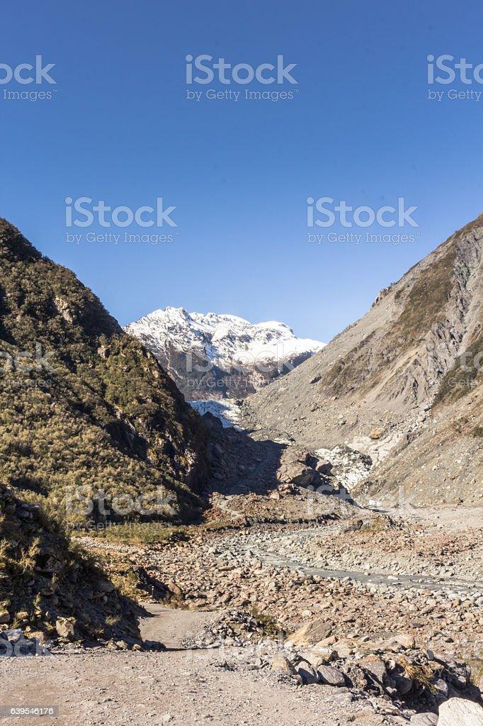 View of Fox Glacier stock photo