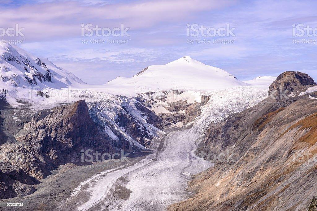View of  Franz Josefs Hohe Glacier, Hohe Tauern National Park stock photo