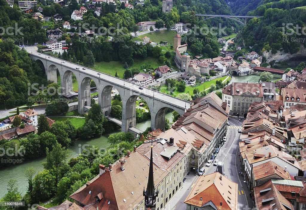 View of Fribourg from above royalty-free stock photo