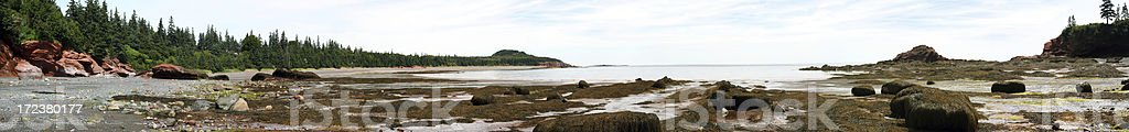 View of Fundy Bay stock photo