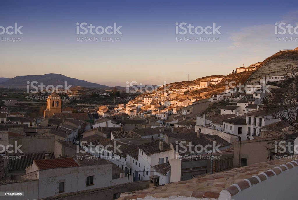View of Galera (Spain) royalty-free stock photo
