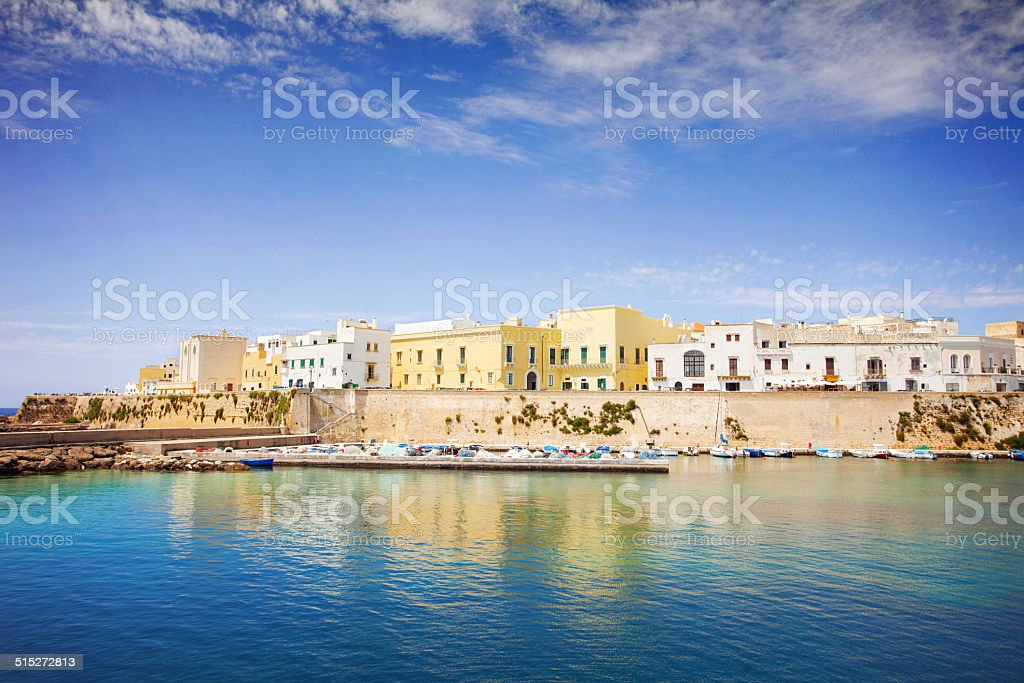 View of Gallipoli, Italy stock photo