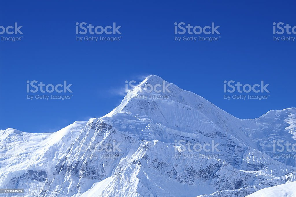 View of Gangapurna in the Himalayas, Nepal, 7454m royalty-free stock photo