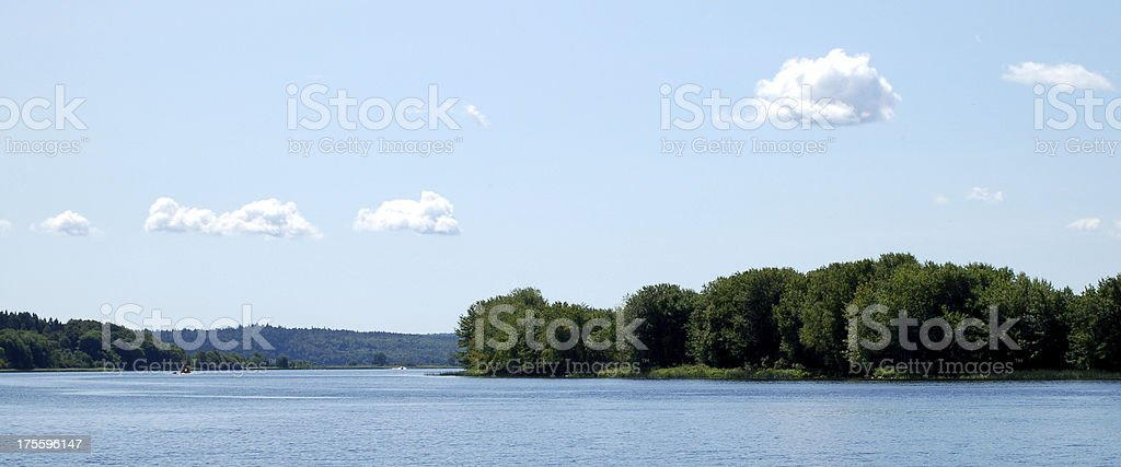 View of Ghost Island from Belleisle New Brunswick stock photo