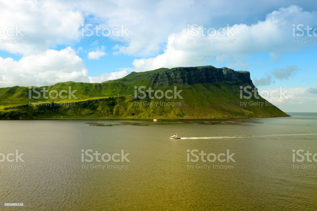 View of giant sea cliff stock photo