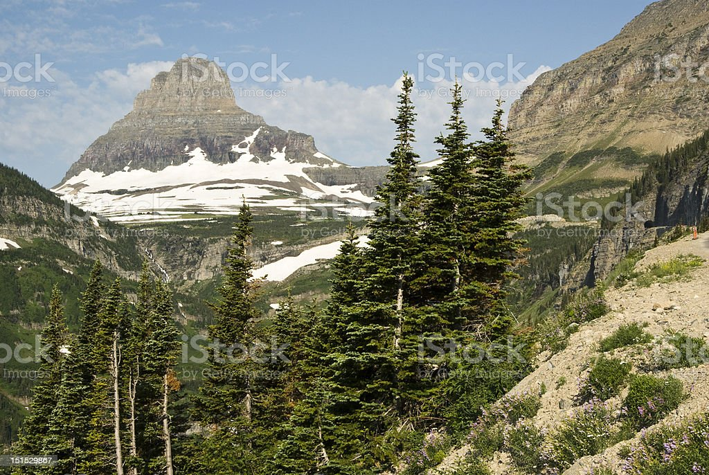 View of Glacier National Park stock photo
