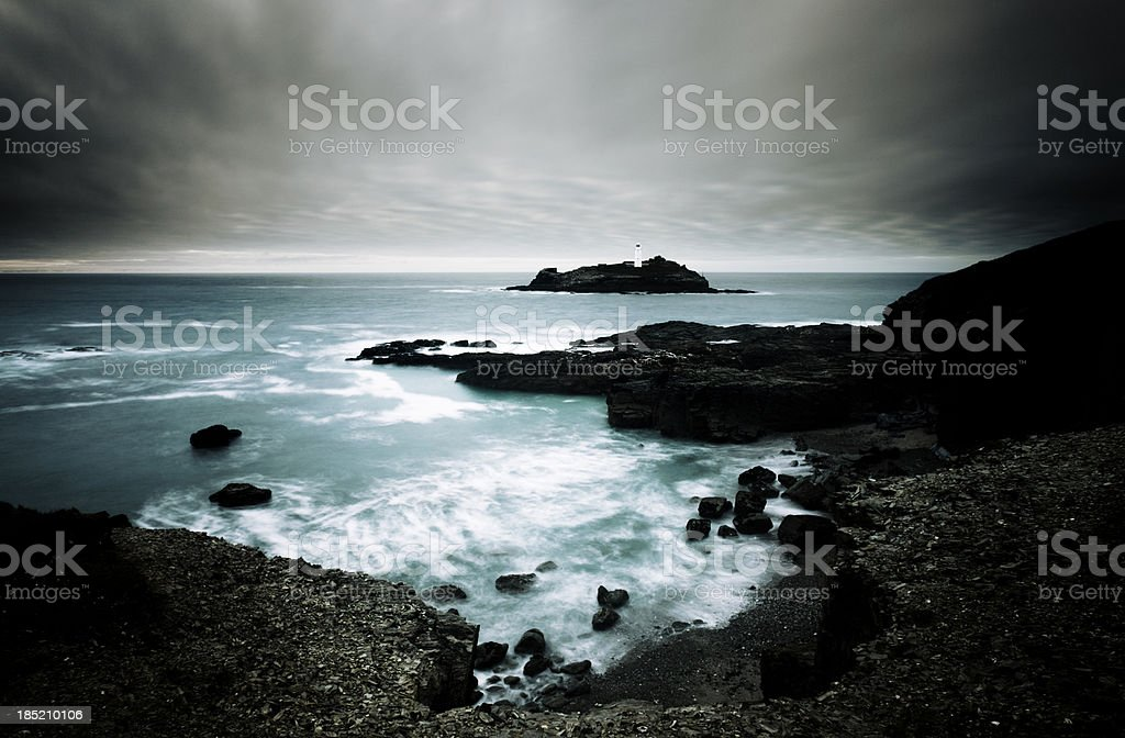 View of Godrevy Lighthouse royalty-free stock photo
