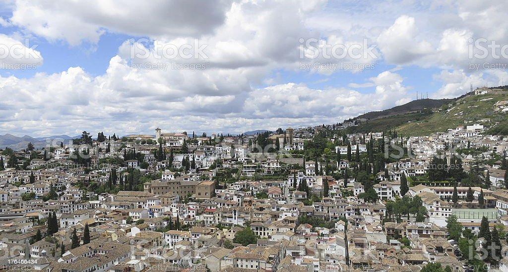 View of Granada royalty-free stock photo