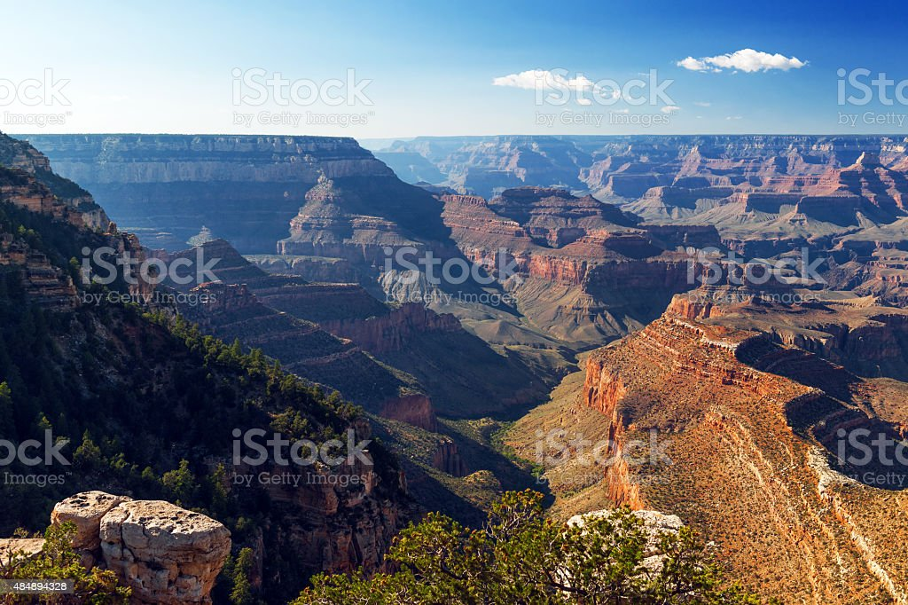 View of Grand Canyon from Mather Point Arizona USA stock photo