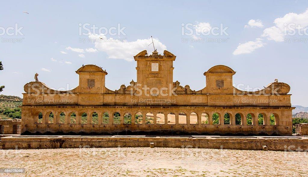 View of Granfonte, baroque fountain in Leonforte stock photo