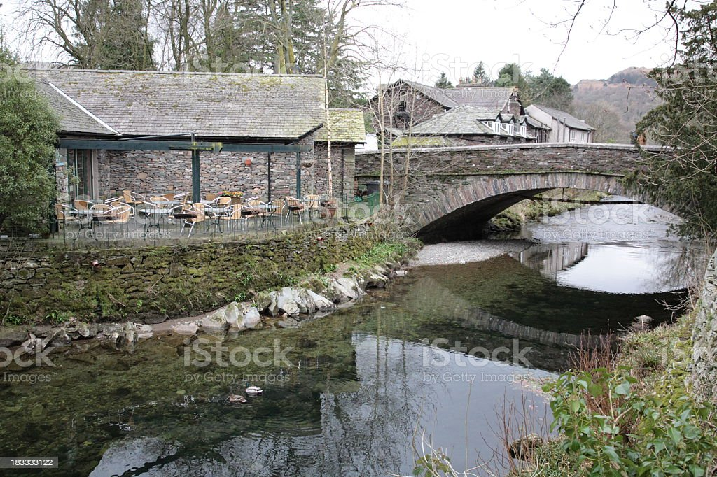 View of Grasmere village stock photo