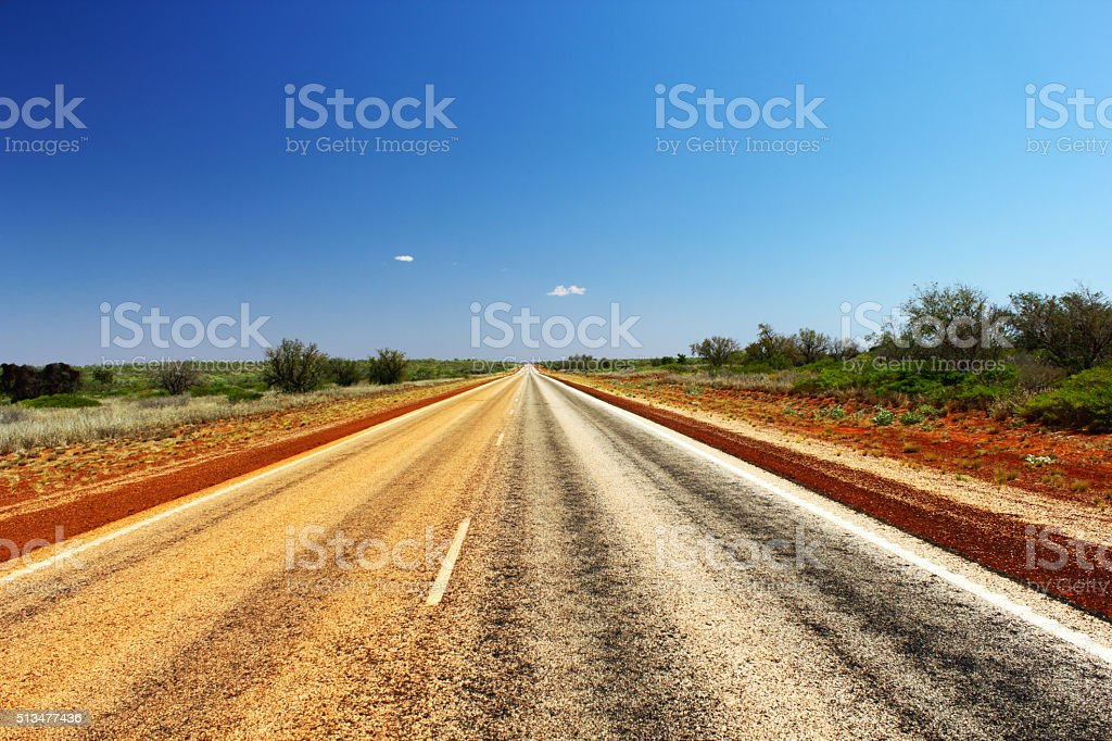 View of Great Northern Highway 1, Western Australia stock photo