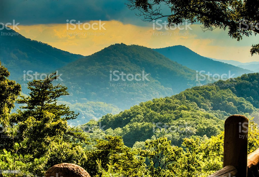 View of Great Smoky Mountains stock photo