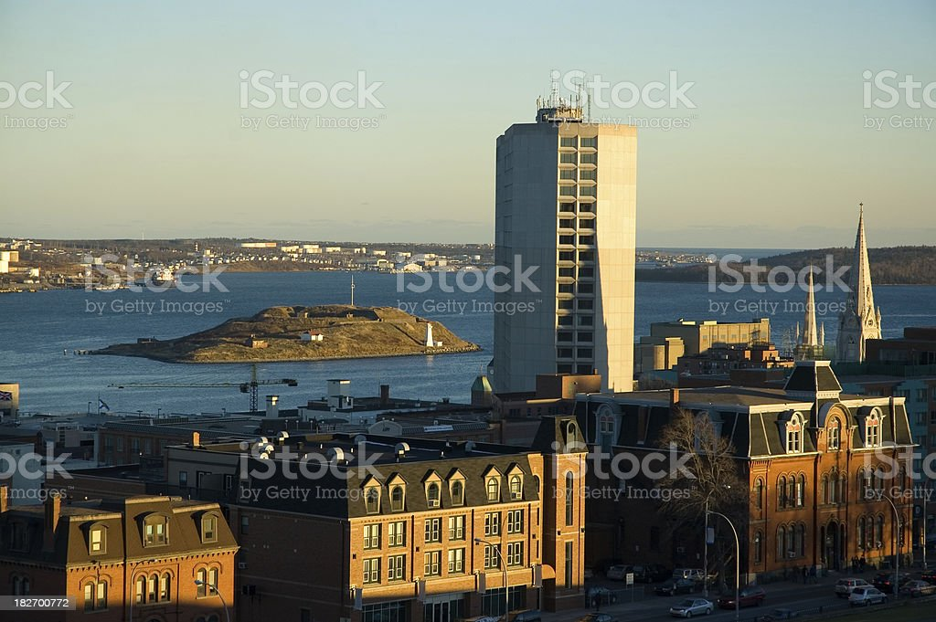 View of Halifax Harbour stock photo