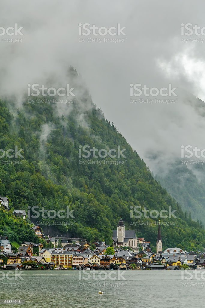 View of Hallstatt, Austria stock photo