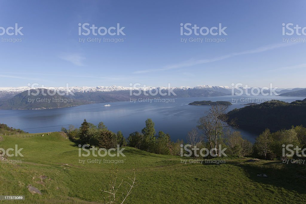 View of Hardangerfjord stock photo