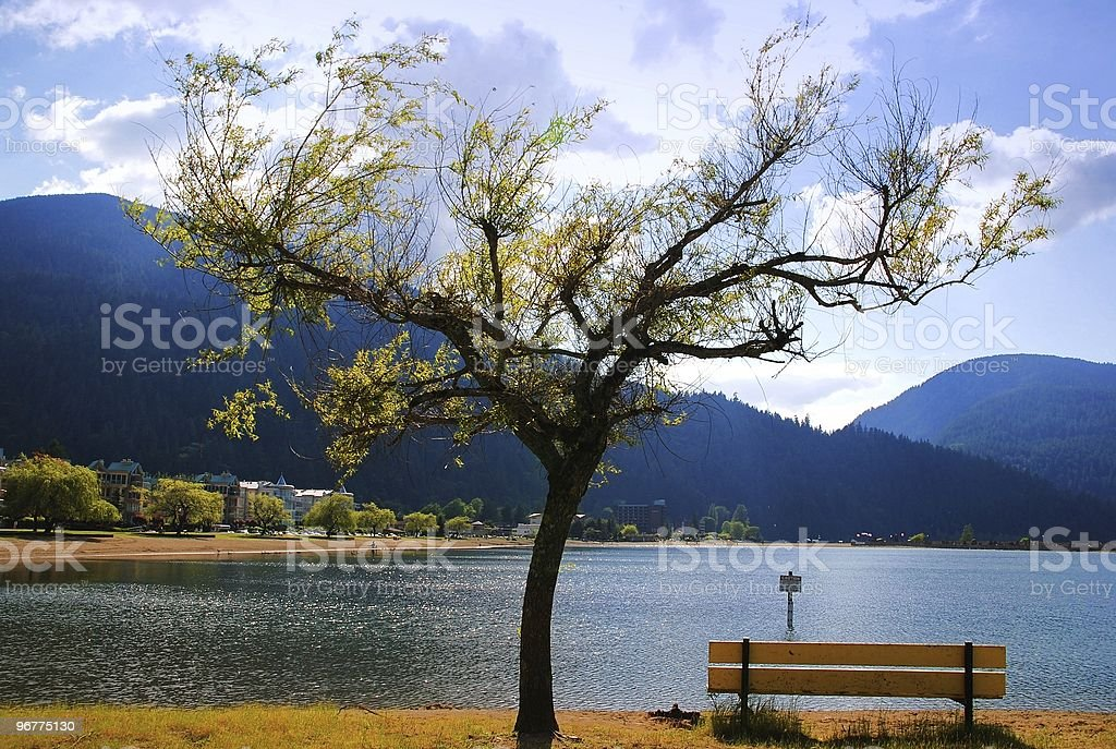 View of harrison hot springs royalty-free stock photo