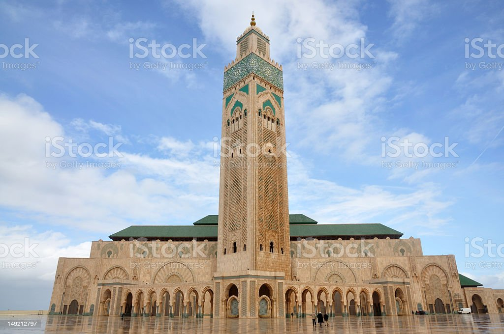 View of Hassan ii mosque in Casablanca royalty-free stock photo