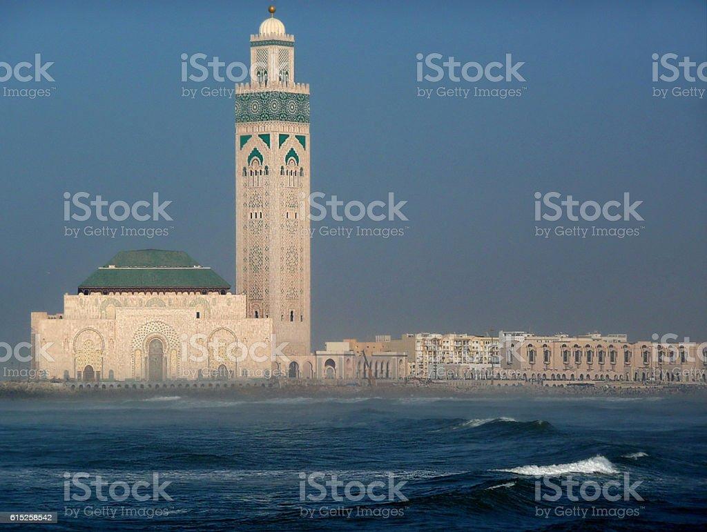 View of Hassan II Mosque in Casablanca stock photo