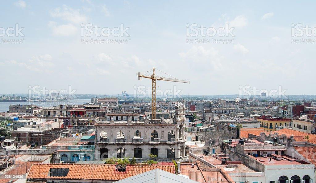 View of Havana from 'Plaza vieja', Cuba stock photo